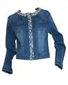 Immagine di Giacchetto Jeans con Perle e Strass GHIACCIO E LIMONE art. 5058-4