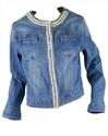 Immagine di Giacchetto Jeans con Perle e Strass GHIACCIO E LIMONE art. 5058-3