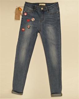 Immagine di Jeans Stretch Slim Fit con Spille applicate GHIACCIO E LIMONE art. F5134